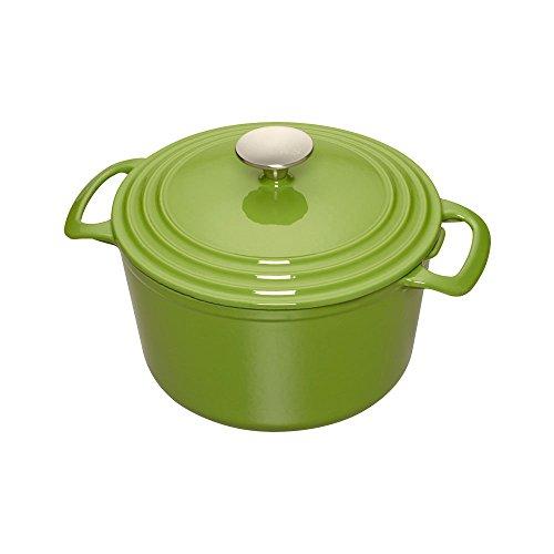 Cooks Enameled Cast Iron 3.5 quart Dutch Oven, Medium, Green (Cast Iron Dutch Oven Green compare prices)