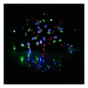 [Clearance] RGB Mixed Color (Red, Green, Blue) 17M 55ft 100 LED Solar Powered String Lights Garden Christmas Wedding Light Indoor and Outdoor Use