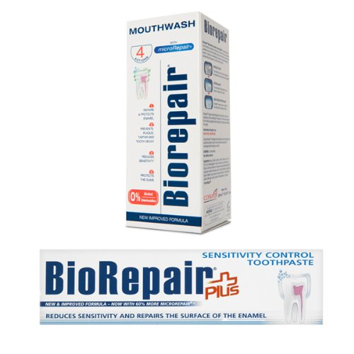 BioRepair Sensitivity Control Toothpaste + Mouthwash