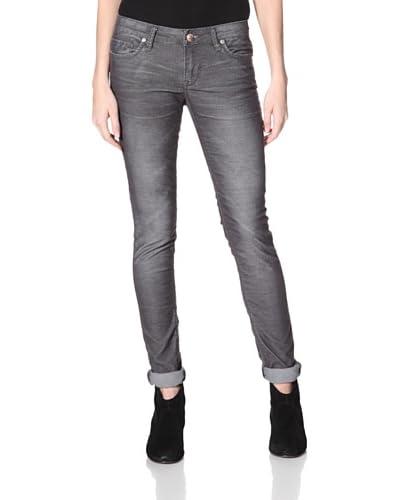 Stitch's Women's Fox Skinny Corduroy Pants  - Deep Grey