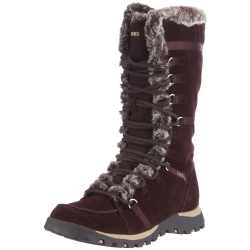 Skechers Women's Grand Jams Unlimited Boot Brown Suede 45419 BRS 6 UK