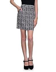 Kiosha Multi-Color Poly Cotton Aline Skirt for women