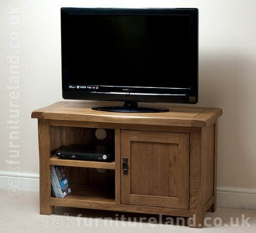 Rustic Solid Oak TV + DVD Cabinet Black Friday & Cyber Monday 2014