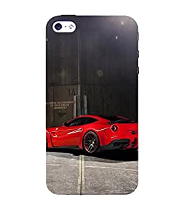 EPICCASE dashing red beauty Mobile Back Case Cover For Apple iPhone 5s (Designer Case)