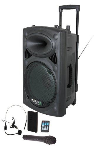 Ibiza Port12VHF-BT sist. audio PA Portatile con subwoofer e bluetooth...
