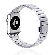 buy Mydeal 24Mm Apple Watch Band Stainless Steel Smart Watch Band Strap Wristband Replacement W/ Adapter Clasp For Apple Watch Iwatch & Sport & Edition 42Mm Silver