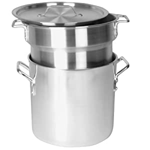 Excellante 8 Quart Aluminum Heavy Gauge Double Boiler Satin Finish by Thunder Group