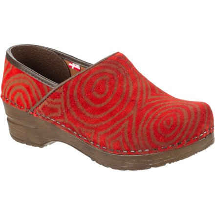 Sanita Women's Professional Sille Clog,Red,35 EU/4.5-5 M US