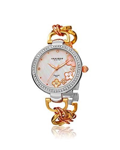 Akribos XXIV Women's AK874TRI Fiora Two-Tone Alloy Watch