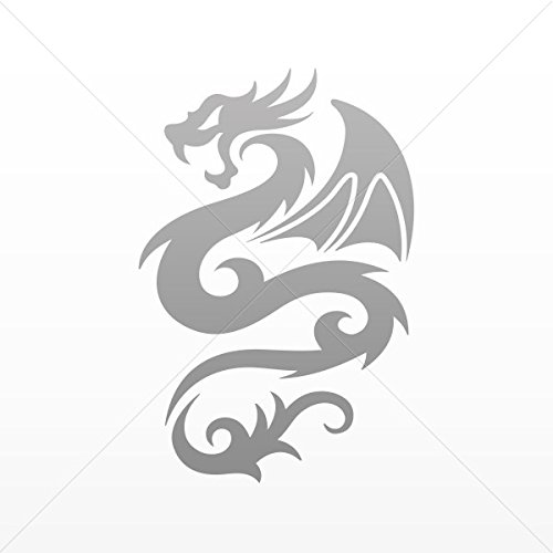 Decal Stickers Tribal Dragon Decoration Motorbike Bicycle Vehicle ATV Gray (40 X 26.5 In)