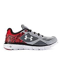 Under Armour Big Boys\' Grade School UA Micro G® Velocity Running Shoes 7 Steel