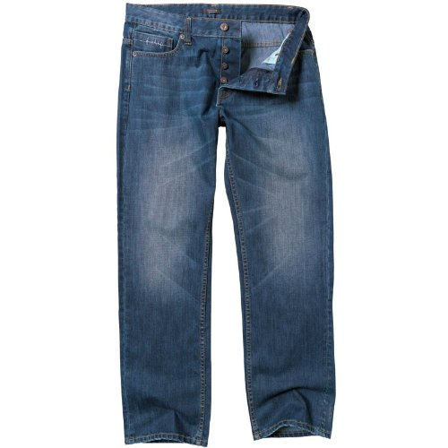 Firetrap Mens Rom Regular Fit Jeans Mid Wash