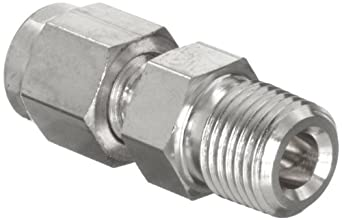 Parker A-Lok 10MSC8N-316 316 Stainless Steel Tube Fitting, Adapter, Tube OD x NPT Male