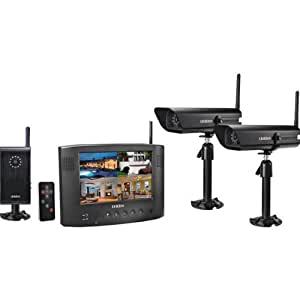 Uniden UDW20553 Wireless Video Surveillance System with 7-Inch LCD Color Monitor and 3 Cameras