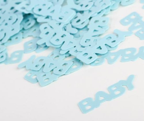 6 Packages Light Blue Baby Confetti - Baby Shower