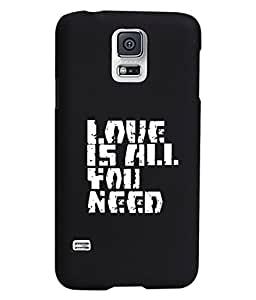 KolorEdge Printed Back Cover For Samsung Galaxy S5 - Black (1896-Ke15120SamS5Black3D)