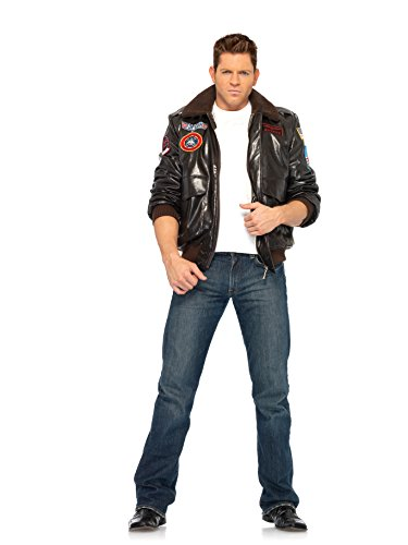 Leg Avenue Men's Top Gun Bomber Jacket,