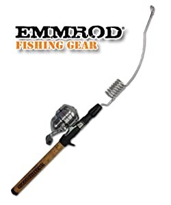 Emmrod Rugged Flex Fishing Rod 7 Coil Cast Pole w/Shakespeare Reel (Real Cork Handle)
