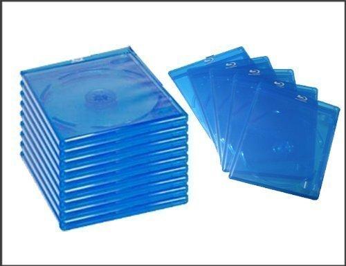 MasterStor x 25 custodie standard per dischi Blu-Ray, alta qualità, con Logo e stabile pulsanti per allentare il DVD/CD (170 x 135 x 11 mm)