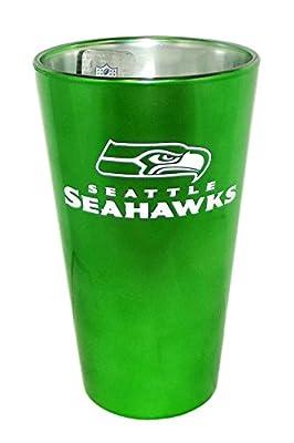 NFL Seattle Seahawks Green Pint Glass