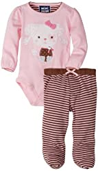 Mini Bean Baby-Girls Newborn Poodle Creeper Pant Set