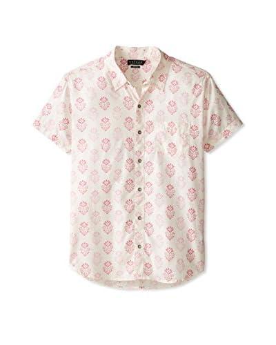 Velvet by Graham & Spencer Men's Floral Print Short Sleeve Shirt