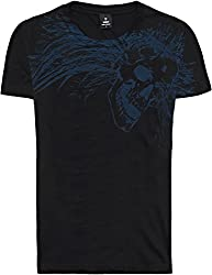 Mens Designer Cool Urban Rock Band Style Bold Tattoo Print Tee Shirts - SKULL ILLUSION - High Quality 100% Cotton Jersey Crew Neck Short Sleeve Regular Fit Tees For Men