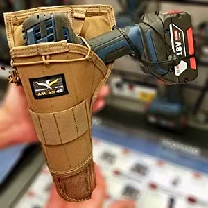 Atlas 46 AIMS Large Drill Holster - Right Handed, Coyote | Hand crafted in the USA (Color: Coyote, Tamaño: Right-Handed)