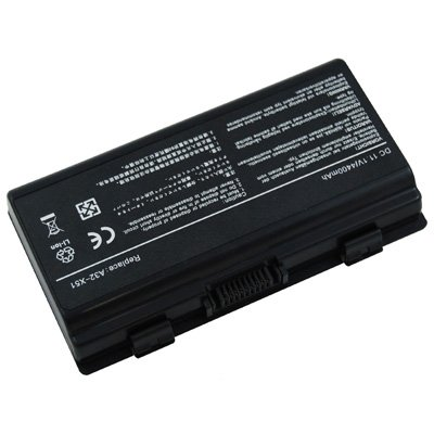 Laptop/Notebook Battery for Asus X Series X58Le - 6 cells 4400mAh Black