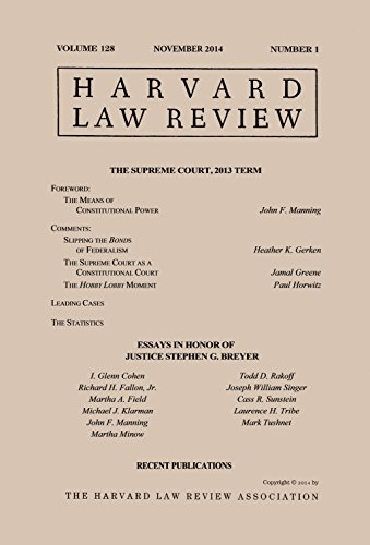 harvard-law-review-volume-128-number-1-november-2014-english-edition