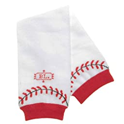 BabyLegs Leg Warmers, Home Run, White/Red, One Size Fits Most
