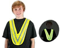 Fluorescent Children V-Shape Reflective Safety Vest, One size fits all!