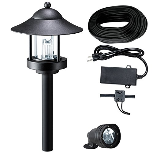 8 Piece Westinghouse Grande Chaumont Low Voltage LED Landscape Lights (Black) (Low Voltage Outdoor Lighting Sets compare prices)