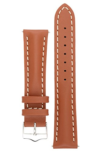 signature-racing-wood-20-mm-short-watch-band-replacement-watch-strap-genuine-leather-silver-buckle