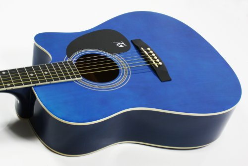Lindo Apprentice Series Cutaway Acoustic Guitar with Carry Case - Blue Gloss