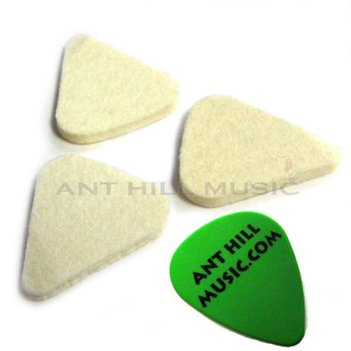 Pear Shape Hard Felt Picks for Bass Guitar, Ukulele and More 3mm - 3 Pack