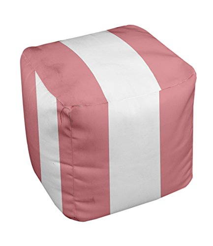 E by design Stripe Pouf, 13-Inch, 3Pink