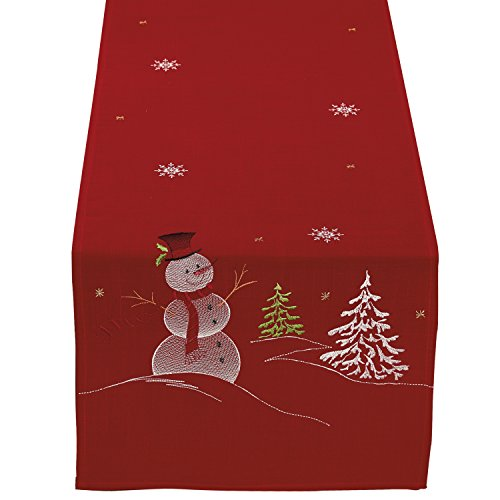 DII Christmas Holiday Embroidered Table Runner 14 x
