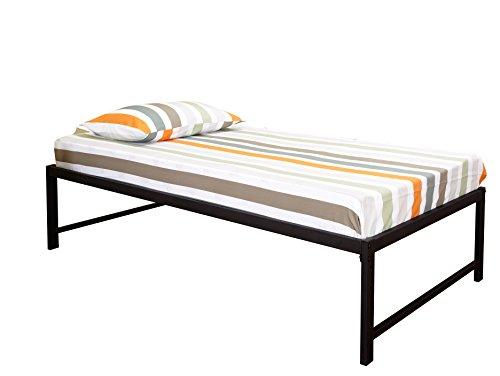 pilaster designs 39 39 39 twin size black metal high riser bed frame with pop up trundle. Black Bedroom Furniture Sets. Home Design Ideas