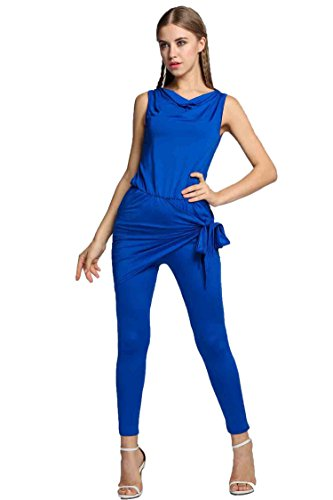 CRAVOG Jumpsuit Damen Elegant Overall Einteiler Hosenanzug Hose lang