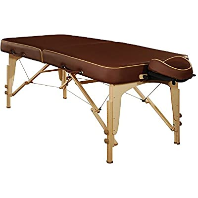 Mt Massage Lotus 30'' Professional Portable Massage Table Package with Reiki Panel(Beige)