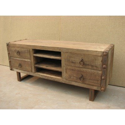 Cheap Agio 69″ TV Stand in Distressed Natural (XA-1011-24)