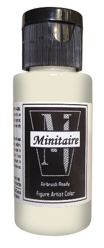 Badger Air-Brush Company, 2 Ounce Bottle Minitaire Airbrush Ready, Water Based Acrylic Paint, Skull White . by Badger Air-Brush Company