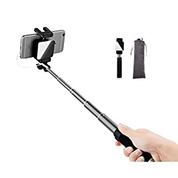 NEW 2016 Selfie Sticks , Telescopic / Extendable Selfie stick Self-portrait for Mobile phone from the shaft autodyne stents, High-end general scalable autodyne artifact (Grey)