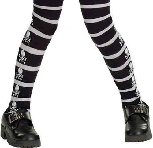 Rubie's Costume Co Skull & Cross Bone Tights Costume Large Costume