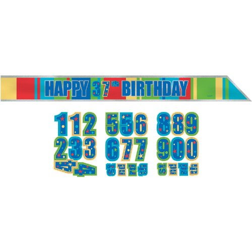 Amscan A Year to Celebrate Theme Trendy Customizable Sash, Multicolored, 60""