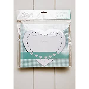 Heart Paper Bunting, 12 hearts, White, 3.5 metres. Perfect for weddings, celebrations, anniversaries, birthdays or as a pretty home decoration.