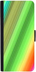 Snoogg Rainbow Power 2400 Graphic Snap On Hard Back Leather + Pc Flip Cover S...