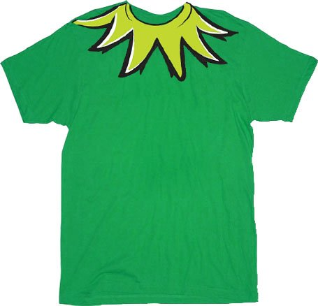 The Muppets Kermit the Frog Costume Green Adult T-shirt Tee