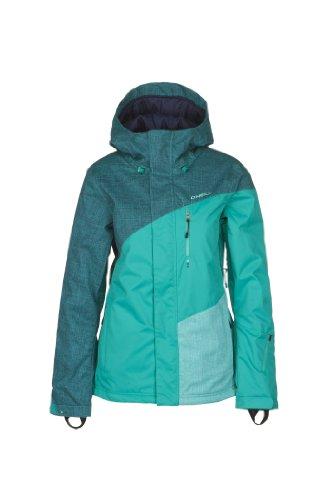 O'Neill Damen Snow Jacke PWEX Coral Jacket, Blue Print, M, 355005